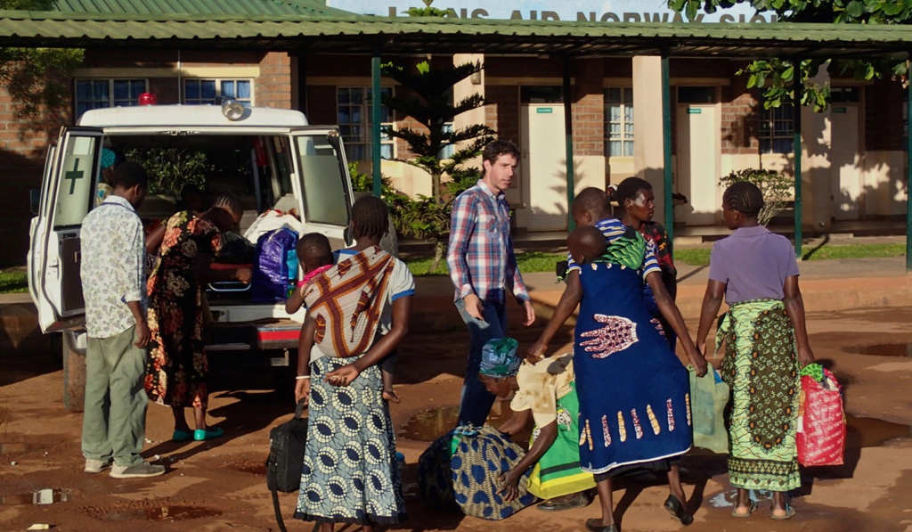 Patients Arriving At Our Centre In Mzuzu